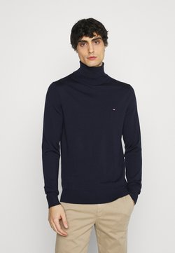 Tommy Hilfiger Tailored - FINE GAUGE LUXURY ROLL - Pullover - blue