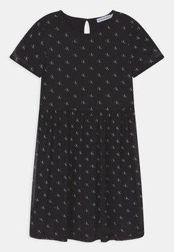 Calvin Klein Jeans - MINI MONOGRAM - Freizeitkleid - black