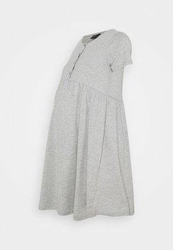 ONLY - OLMLILLI BADYDOLL DRESS - Vestido ligero - light grey melange