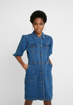 Soft Rebels - SRDEBBIE SHORT DRESS - Denim dress - everyday mid blue