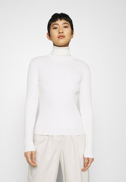 Marc O'Polo - LONGSLEEVE TURTLE NECK STRUCTURE - Strickpullover - off white