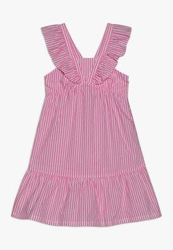 Scotch & Soda - CRISPY DRESS IN YARN DYED STRIPES - Freizeitkleid - pink/white