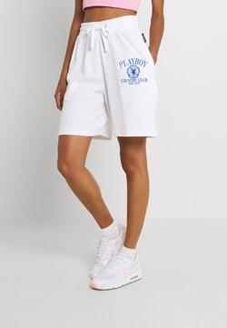 Missguided - PLAYBOY SPORTS WAFFLE - Shorts - white