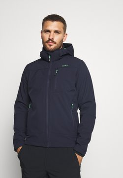 CMP - MAN JACKET ZIP HOOD - Softshelljacke - blue/verde