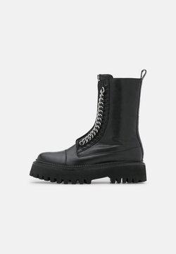 Copenhagen Shoes - ROCK & ROLL - Platåstövletter - black