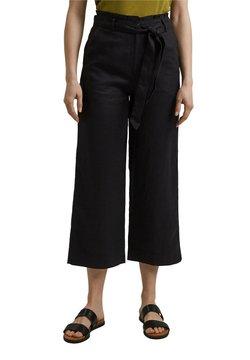 Esprit - PANT WIDE LEG - Trousers - black