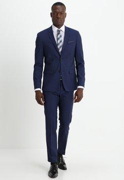 Calvin Klein Tailored - WOOL NATURAL STRETCH FITTED SUIT - Kostuum - indigo