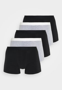 Pier One - 5 PACK - Shorty - black/mottled grey