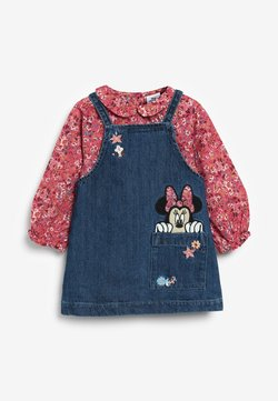 Next - MINNIE MOUSE SET - Jeanskleid - dyed denim