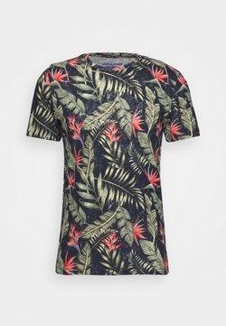Jack & Jones - JORELI TEE CREW NECK - Print T-shirt - navy blazer