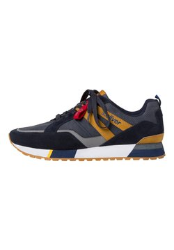 s.Oliver - SNEAKER - Sneaker low - navy/mustard