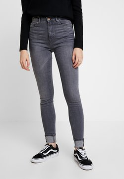 ONLY - ONLPAOLA HIGHWAIST  - Jeans Skinny Fit - grey denim