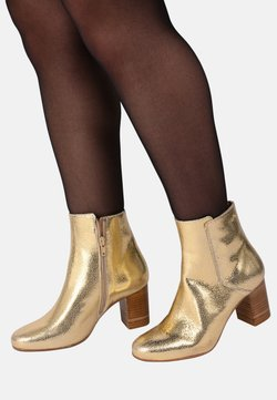 M. Moustache - MATHILDE - HIGH HEELED ANKLE BOOTS - Ankle Boot - gold