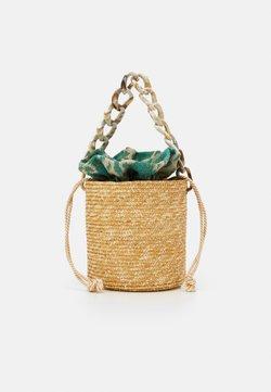 Hermina Athens - BASKET BROCADE MARBLE CHAIN - Käsilaukku - natural/green