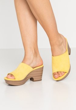 XTI - Clogs - yellow