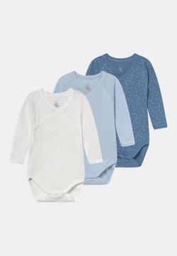 Petit Bateau - NAISS 3 PACK - Body - white/blue