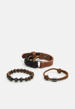 ALDO - RIEVEN SET - Bracelet - brown/black/gunmetal combo