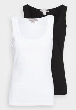 Anna Field Petite - 2 PACK - Débardeur - white/black