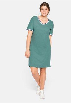 Sheego - Jerseykleid - rauchgrün