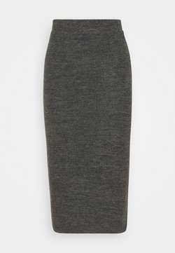 Pieces - PCPAM PENCIL SKIRT - Falda de tubo - dark grey melange