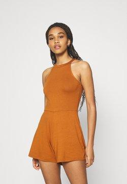 Even&Odd - Halterneck sleeveless playsuit - Combinaison - dark brown