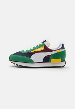 Puma - FUTURE RIDER PLAY ON UNISEX - Sneakers laag - green/white