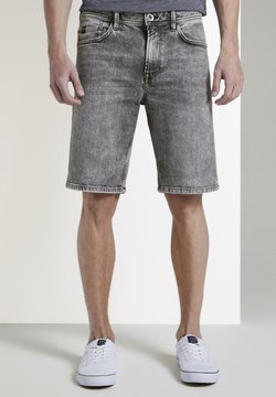 TOM TAILOR DENIM - Jeans Shorts - used light stone grey denim