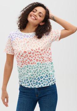 Sugarhill Brighton - MAGGIE COLOURED LEOPARD - T-shirt imprimé - white