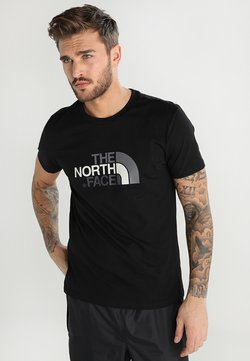 The North Face - EASY TEE SUMMIT GOLD - T-shirt imprimé - black