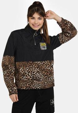 myMo ATHLSR - Leichte Jacke - schwarz beige leo