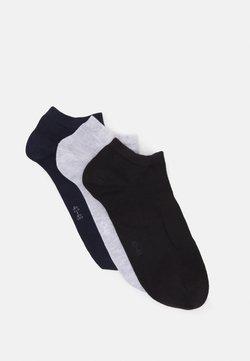 Björn Borg - SOLID ESSENTIAL STEP SOCK 3 PACK - Socken - black