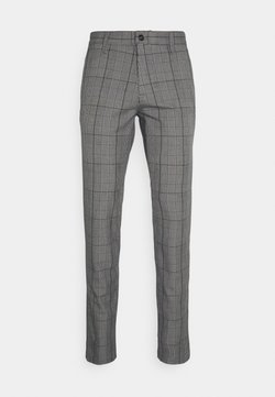 Selected Homme - SLHSLIM STORM FLEX SMART PANTS - Trousers - grey/blue