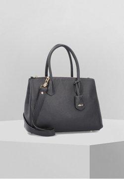 Abro - ADRIA HANDTASCHE LEDER 32 CM - Handtasche - black