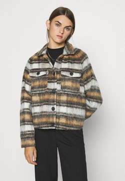 ONLY - ONLTRAY CHECK JACKET  - Summer jacket - black/brown