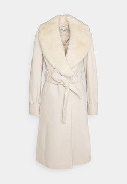 Miss Selfridge - BELT COAT - Wollmantel/klassischer Mantel - cream