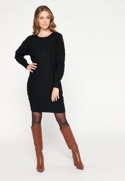 LolaLiza - Gebreide jurk - black beauty