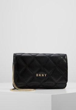 DKNY - SOFIA ON STRING CRINKLE - Torba na ramię - black/gold