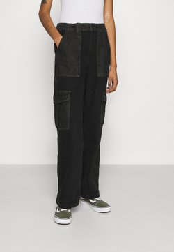 BDG Urban Outfitters - SKATE - Jeans Relaxed Fit - black/grey patchwork