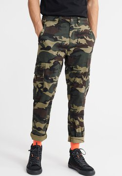 Superdry - SUPERDRY CORE CARGO PANTS - Cargohose - green