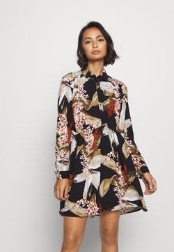 Object Petite - OBJLILITI SHORT DRESS - Vestido camisero - black