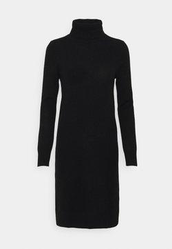 pure cashmere - TURTLENECK DRESS - Neulemekko - black