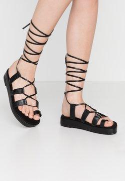 Nly by Nelly - PERFECT TOE LOOP  - Korkeakorkoiset sandaalit - black