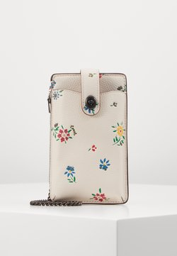 Coach - WILDFLOWER PRINT TURNLOCK CHAIN PHONE CROSSBODY - Etui na telefon - chalk