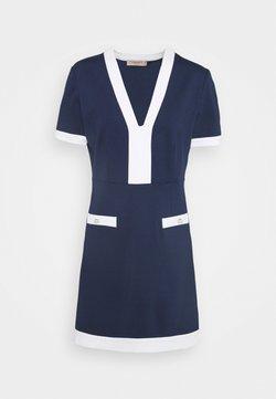 TWINSET - ABITO MILANO BORDI CONTRAST - Vestido ligero - indaco/neve