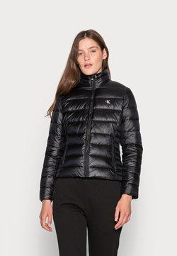 Calvin Klein Jeans - BACK LOGO ELASTIC MOTO JACKET - Talvitakki - black