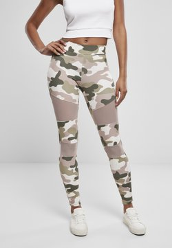 Urban Classics - TECH - Leggings - Hosen - duskrose camo