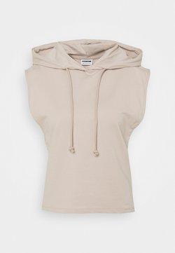 Noisy May Petite - NMALLY HOODIE - Camiseta estampada - chateau gray