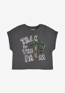 Next - PALM SEQUIN  - T-shirt z nadrukiem - grey