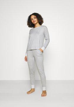 Lauren Ralph Lauren - COZY LONG SLEEVE CREW NECK - Pyjama - grey