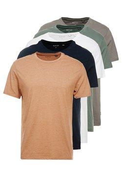 Burton Menswear London - BASIC CREW 5 PACK - T-Shirt basic - navy
